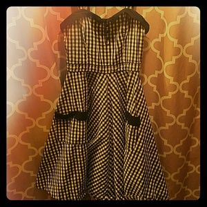 Gingham(Rockabilly Style)Swing Dress